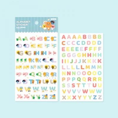 카카오프렌즈 리틀 알파벳 숫자 스티커