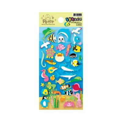 쁘띠 동물원 스티커 - 바닷속동물