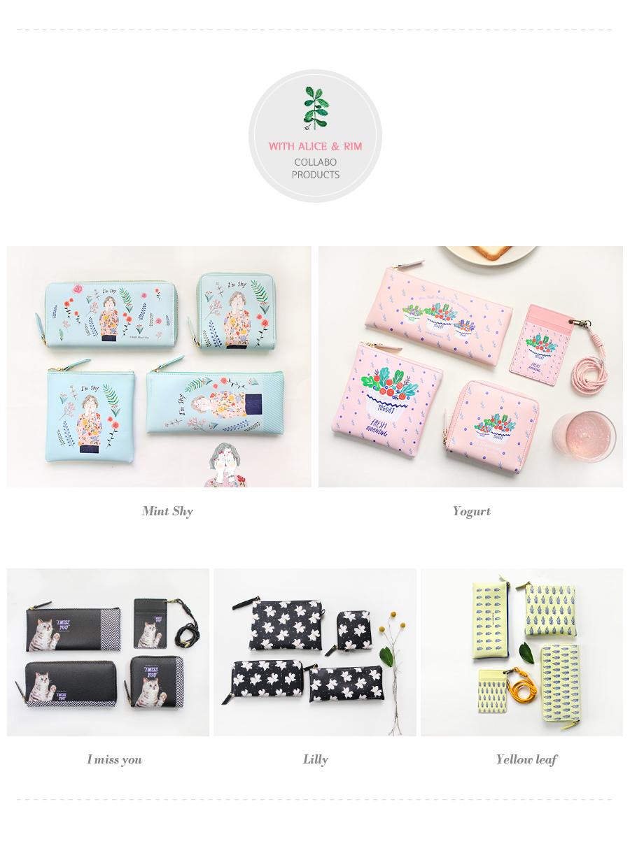 Rim 스퀘어 파우치 S - 위드앨리스, 14,800원, 화장품파우치, 애나멜/인조가죽