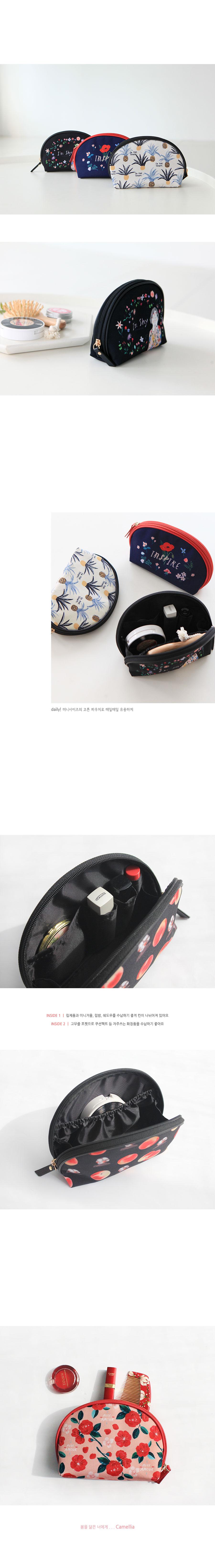 Rim 솜솜 메이크업 파우치 - Camellia - 위드앨리스, 15,800원, 화장품파우치, 애나멜/인조가죽