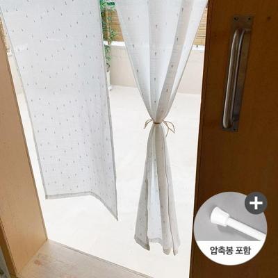 앨리스 도뜨 현관 가리개커튼+봉포함