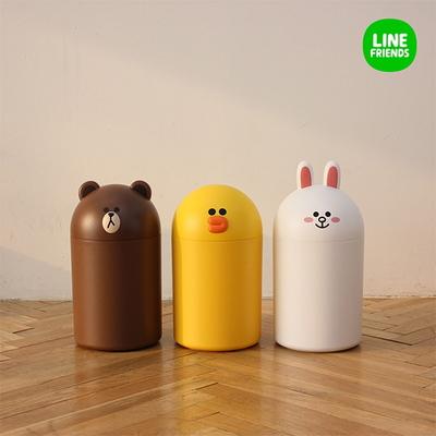 라인프렌즈 중형 휴지통 브라운 / 샐리 / 코니