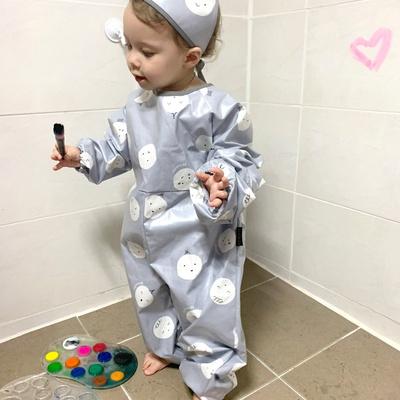 유아 전신미술가운 라미네이트 코팅 방수 놀이가운