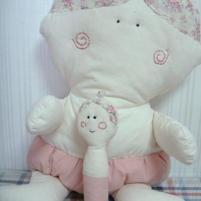 날아라미쎄스깡 아기딸랑이 애착인형 만들기 패키지 18cm 솜포함