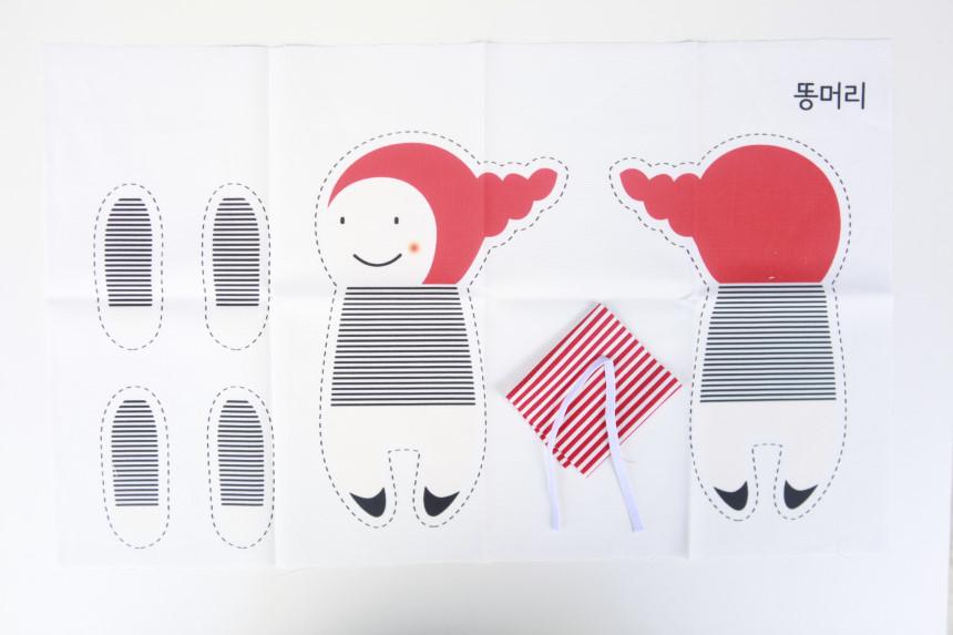 DIY 태교 바느질 언니오빠 3종세트 컷트지 애착 인형만들기 - 꿈꾸는두부, 28,000원, 장난감, 인형/애착인형