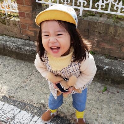 데일리 삼중거즈 아기 스카프빕
