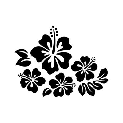 블랭코 스텐실도안710 히비스커스꽃