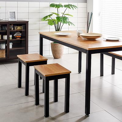 T9 강화스틸 인테리어 디자인 벤치 식탁의자 1인용 철제의자