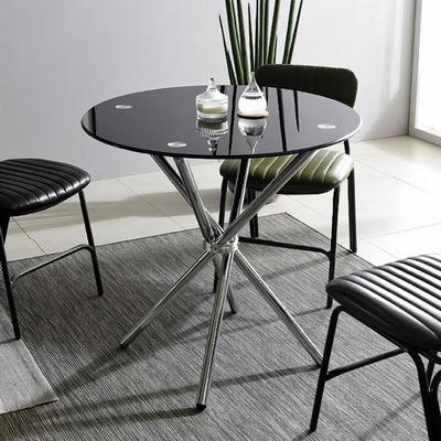 스틸 미팅 800 테이블 강화유리 테이블 다용도테이블