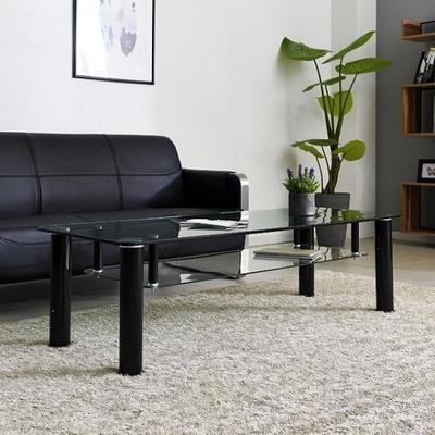 스틸 심플 소파테이블 강화유리 거실 테이블(T42-612)
