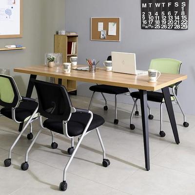 스틸 인더밴 1800테이블 회의용테이블 일자형 책상