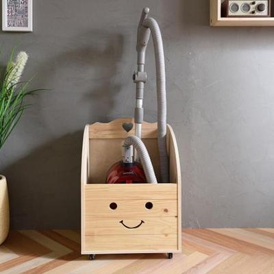 원목 청소기보관함 중형