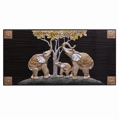 HC24 금전나무코끼리 부조액자 (중)