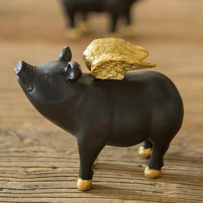 V-121 천사 돼지 장식인형