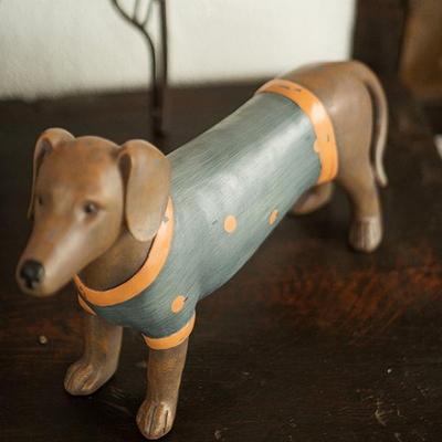 6A114 파란옷 강아지