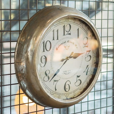 R5269 빈티지 철재벽시계