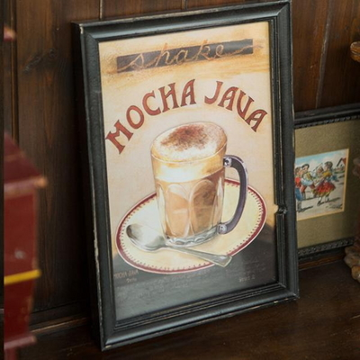 EJ-Q21 커피그림 액자_모카자바 1p