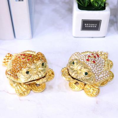 010211 금속 두꺼비 보석장식함 1p (2color)