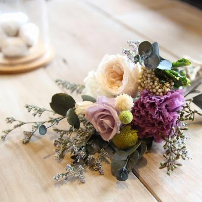 더봄-프리저브드플라워-라벤더로즈꽃다발