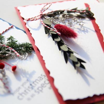 프리저브드플라워 크리스마스엽서카드