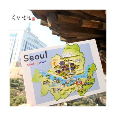 한국사랑 아트엽서 (4종 택일)
