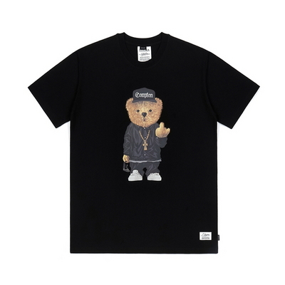 COMPTON BEAR T-SHIRTS BLACK