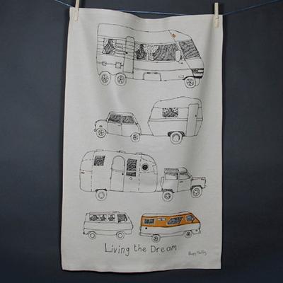 핸드 프린트 티타올-버스