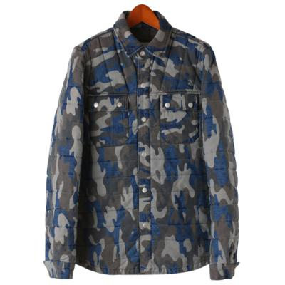 Denim Camo Padding Jacket