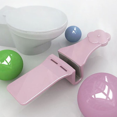 아이디어 특허 디자인 상품 항균 변기 손잡이 지지봉 바보사랑 ...
