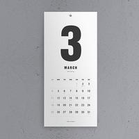 2017-2018 MODERN WALL CALENDAR