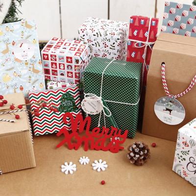 기성 포장지크리스마스 패턴