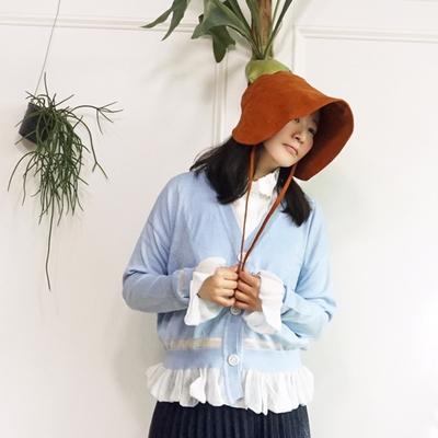 봄바람 소매 단셔링 로맨틱 니트가디건