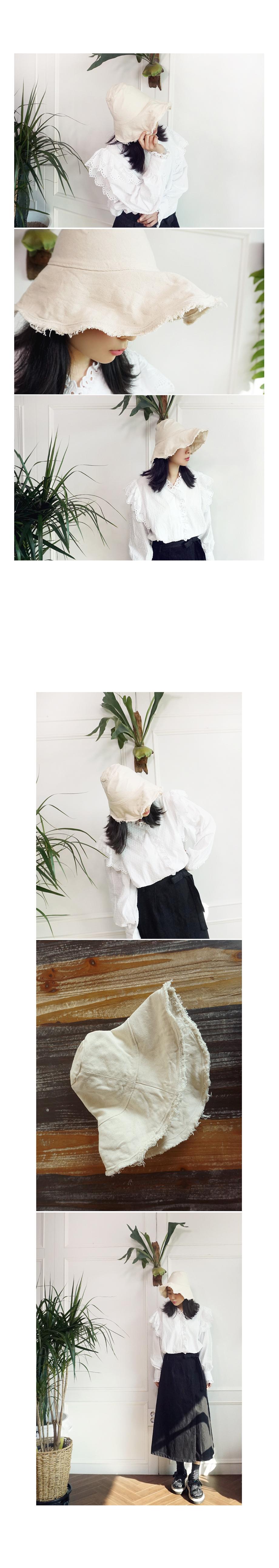 빈티지 헤짐 와이어챙 코튼 벙거지 버킷햇 - 앞머리, 19,500원, 모자, 버킷햇