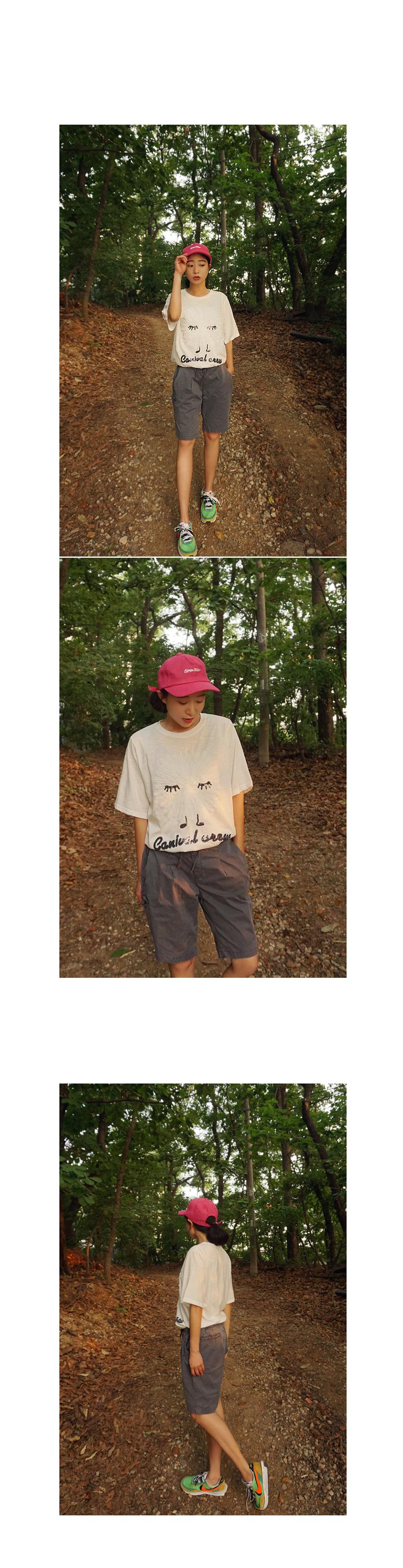 슬라브 코튼 오버핏 스팽글 화이트 반팔티셔츠 - 앞머리, 28,500원, 상의, 반팔티셔츠