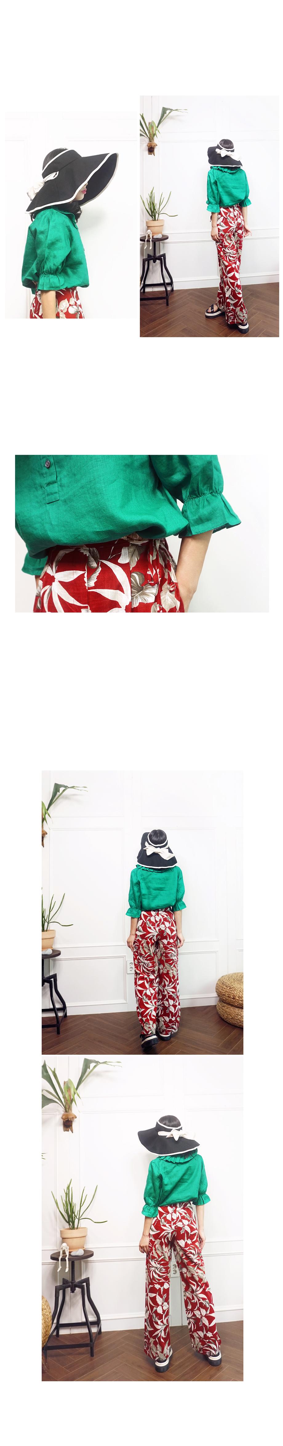 프릴넥 퍼프소매 튜닉블라우스 - 앞머리, 38,500원, 상의, 블라우스/셔츠