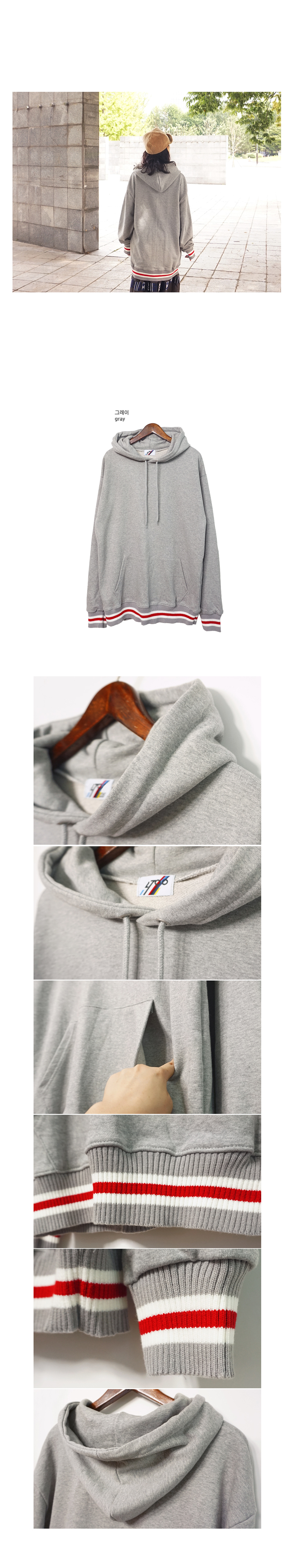 박시 소매배색 코튼롱후드맨투맨티셔츠 - 앞머리, 39,900원, 상의, 맨투맨/후드티