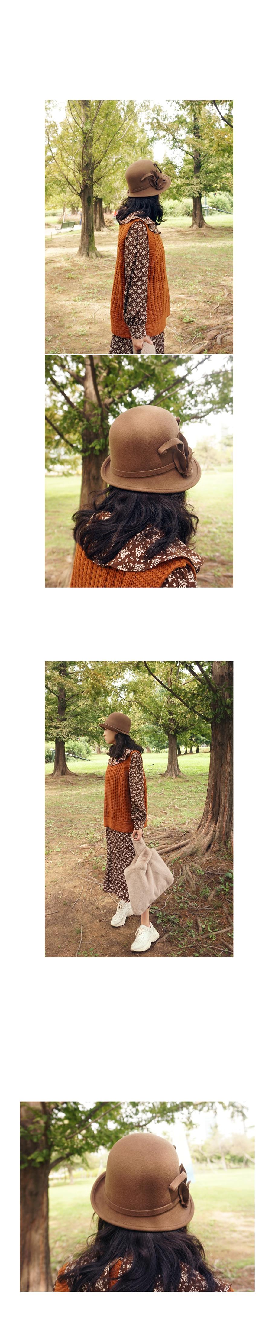 울100 퀄리티 입체나뭇잎 플로피 벙거지햇 - 앞머리, 49,900원, 모자, 버킷햇