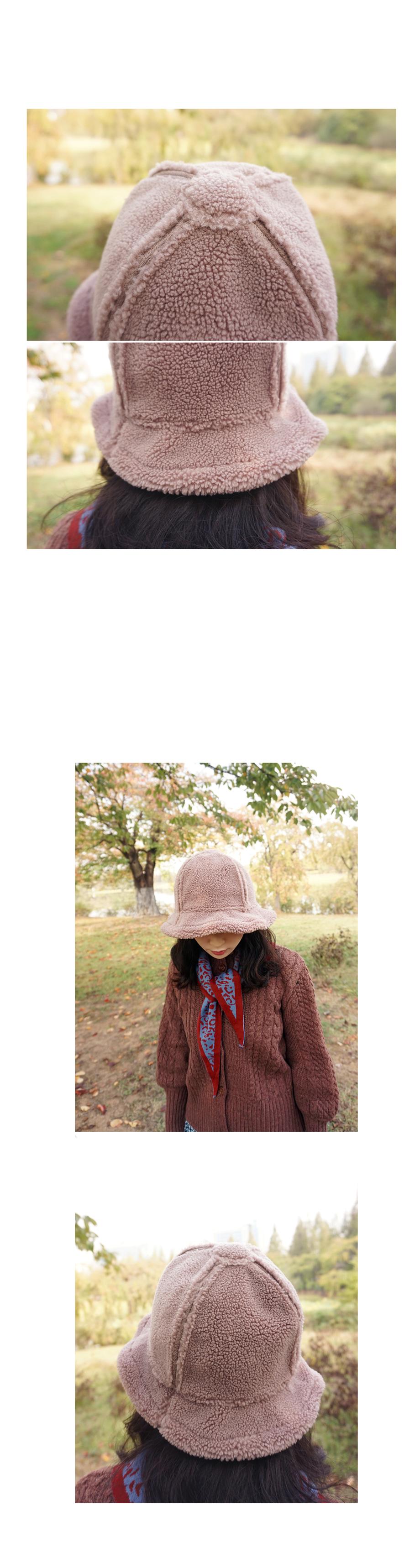 따스한 양면 무스탕퍼 벙거지 버킷햇 - 앞머리, 23,500원, 모자, 비니/털모자