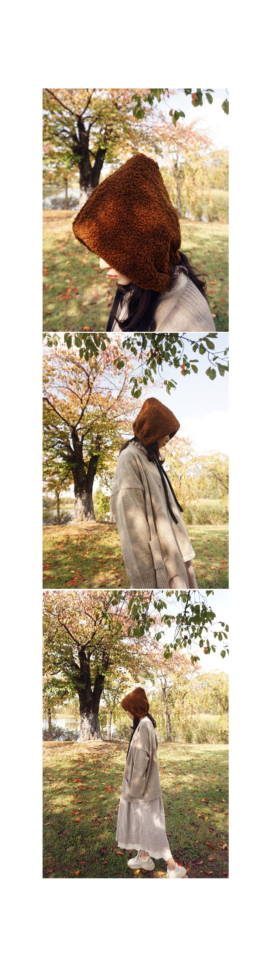 도톰 후리스 뽀글이 양털보넷 - 앞머리, 13,500원, 모자, 비니/털모자