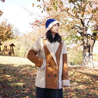 덤블링 뽀글이 양털 무스탕자켓