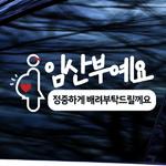 임산부예요 - 초보운전스티커