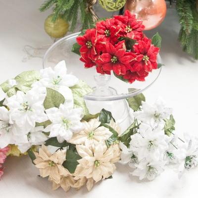 에찌포인꽃부쉬 소 25cm 조화 크리스마스 장식 TRFART