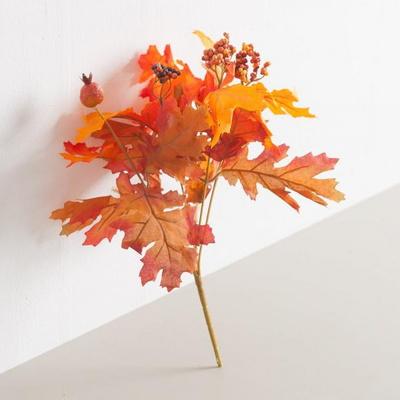 열매단풍잎부쉬 30cm 조화 조화꽃 인테리어 FAIAFT