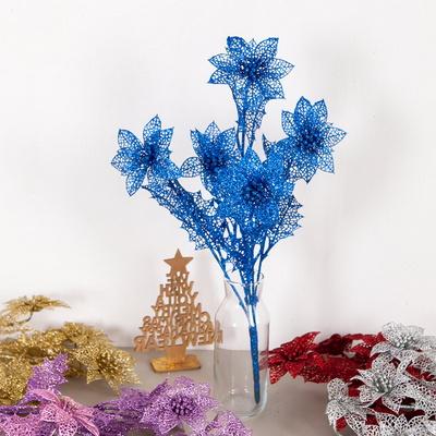 반짝이포인꽃부쉬 소 48cmM 포인꽃 크리스마스 TRFART