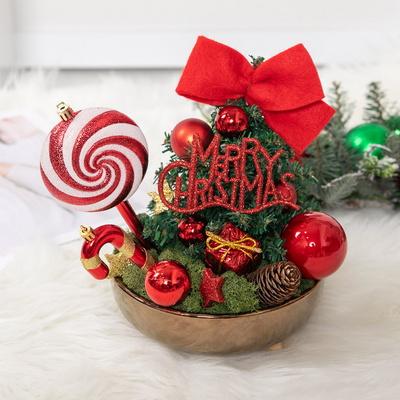 브론즈사탕트리수반set 22cmP 크리스마스 장식 TRFAHM