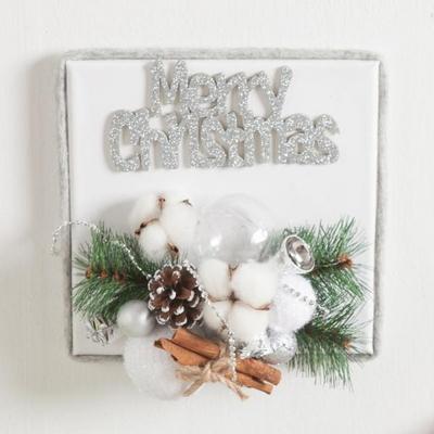 시나몬목화캔버스액자 20cmP 크리스마스 액자 TRFAHM
