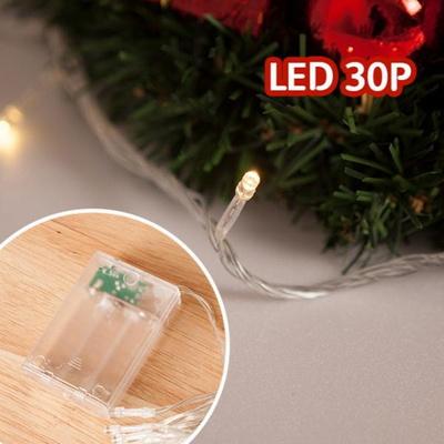 LED 30P 건전지용 투명선 트리 장식 소품 TRDELB