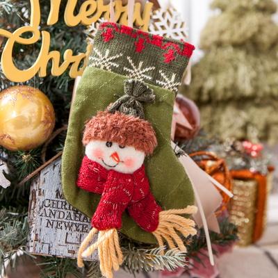 따뜻한 눈사람양말 16cm 트리 크리스마스 장식 TROMCG