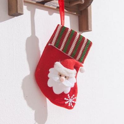 레드그린 산타양말 중 14cm 트리 크리스마스 TROMCG