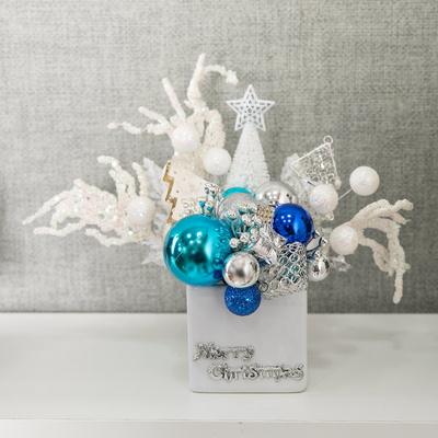 블루 크리스탈 화분 26cmP 트리 크리스마스 TRFAHM